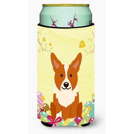 Easter Eggs Corgi Tall Boy Beverage Insulator Hugger Bb6100tbc