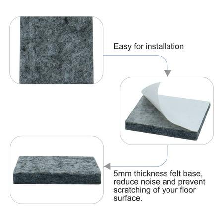 "Felt Furniture Pad Square 1 5/8"" Self Adhesive Floor Table Pads Protector 30pcs - image 1 de 7"