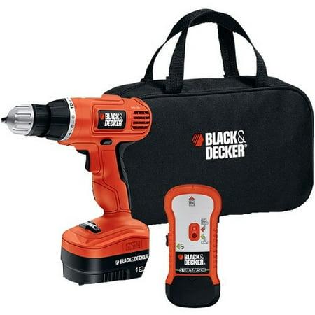 Black & Decker BDKGCO12SFBM 12-Volt NiCad 0.375-Inch Cordless Drill with Stud Sensor Black & Decker 12-Volt NiCad 0.375-Inch Cordless Drill Driver with Storage Bag and Stud Sensor