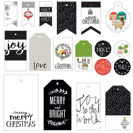 Illustrated Faith Christmas Gift Tags - Christmas Gift Exchange Themes