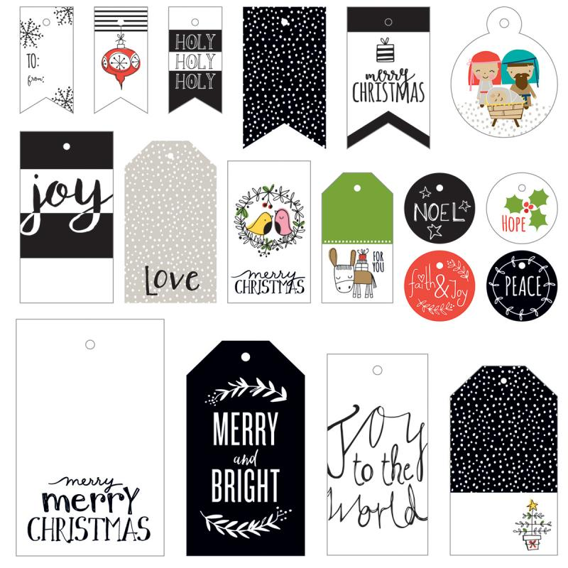 Illustrated Faith Christmas Gift Tags 18/pkg-
