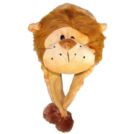 Plush Fleece Animal Hat LION with Ear Flaps PON PONS KIDS AND ADULTS - image 1 of 1