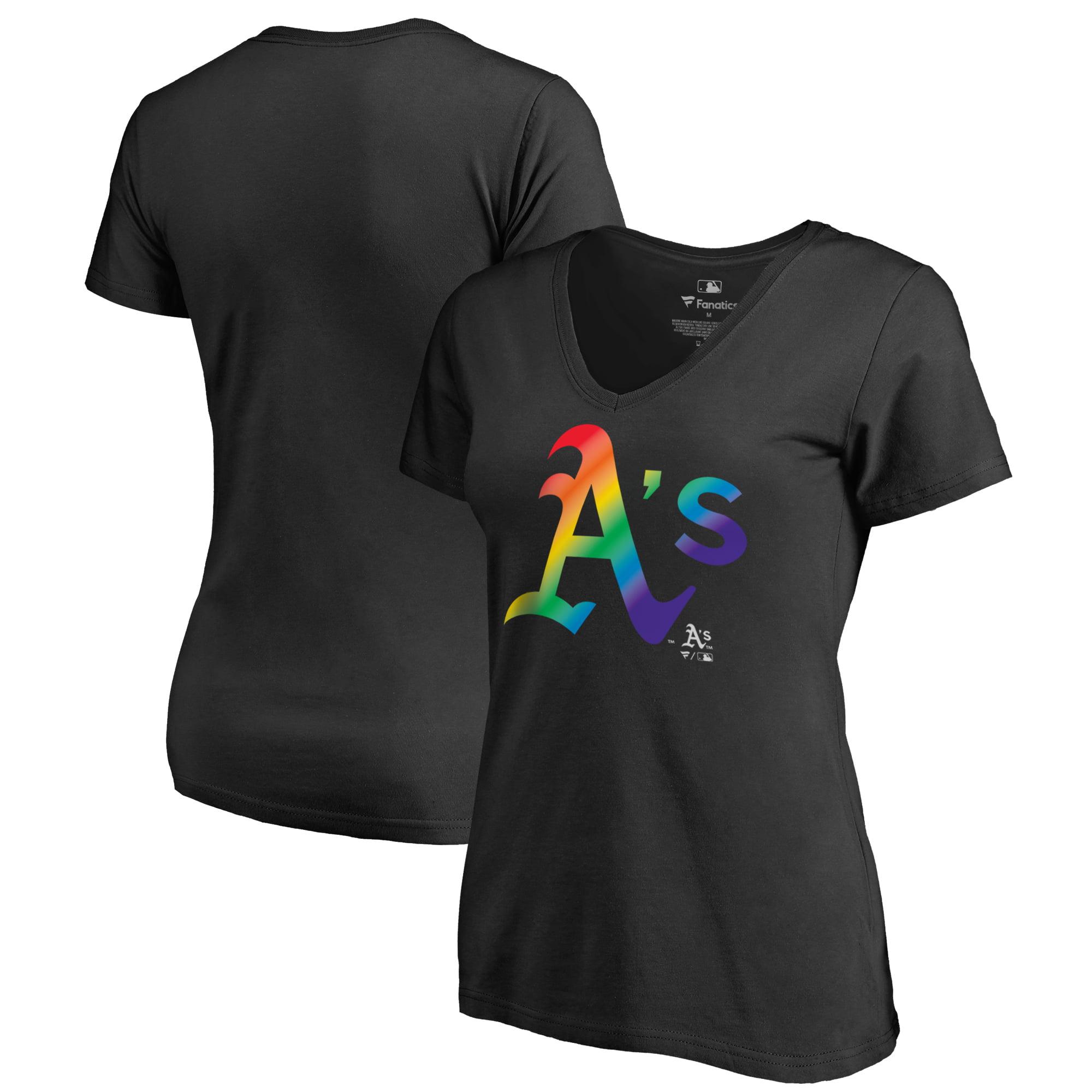Oakland Athletics Fanatics Branded Women's Plus Sizes Pride T-Shirt - Black