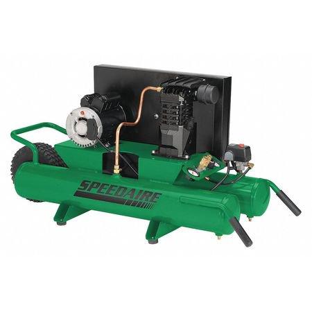 "Speedaire 4B222 Wheelbarrow Electric Air Compressor 125 psi 48""L"