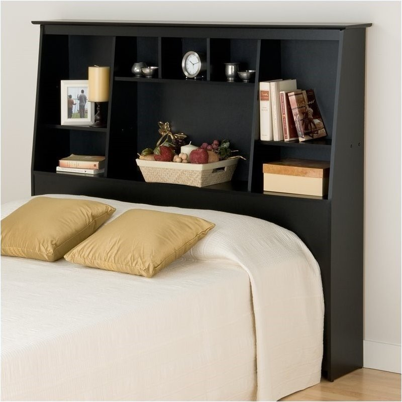 Headboard Shelf queen size bookcase headboard