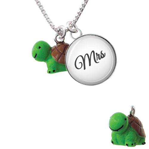 Resin Turtle - Mrs Glass Dome Necklace