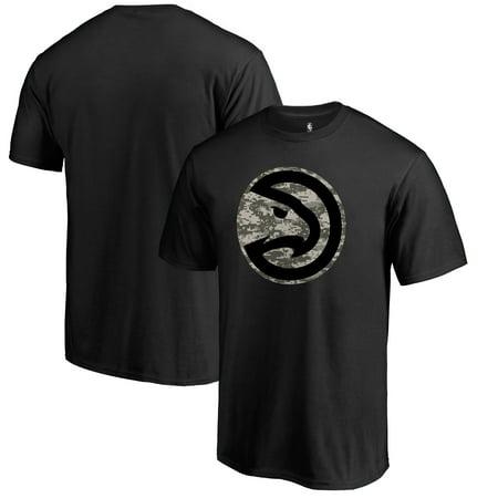 Atlanta Hawks Fanatics Branded Cloak Camo T-Shirt - Black ()