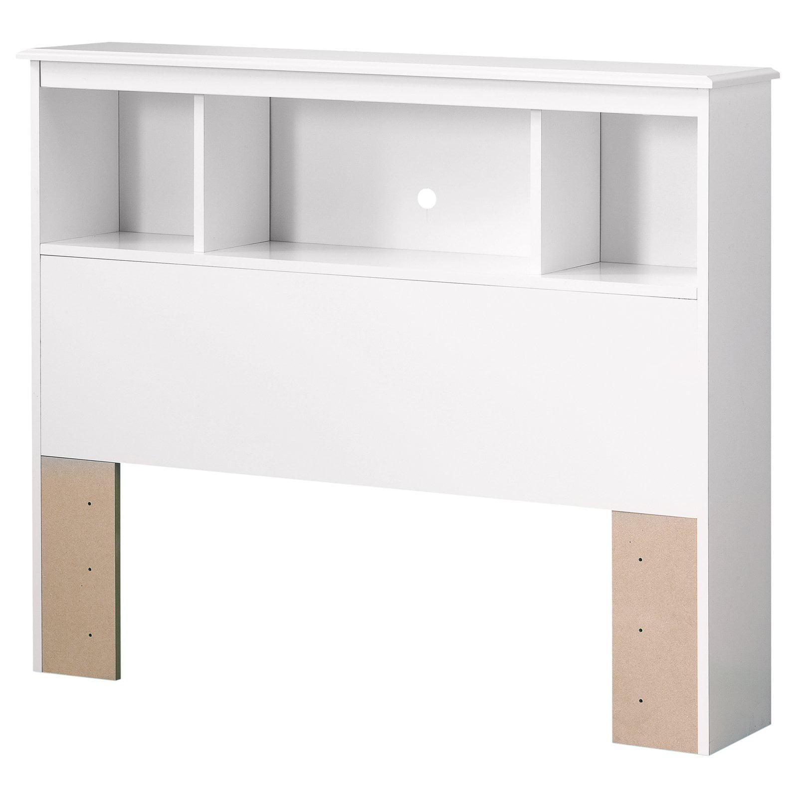 South Shore Crystal 3-Shelf Bookcase Headboard, Twin, White