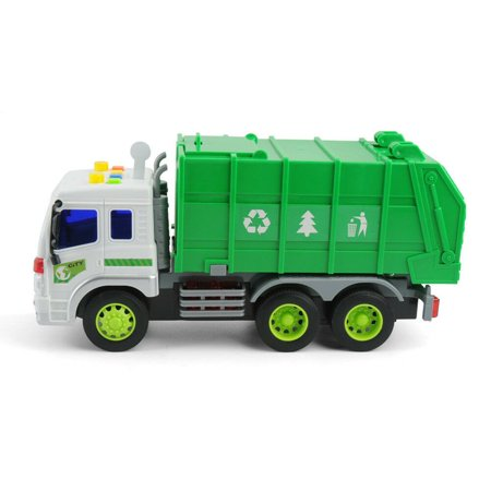 Large 1/16 Garbage Truck Bin Lorry Light & Sound Rubbish Recycling Trash Car - image 3 of 5