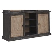 Emerald Home Barcelona Dark Brown and Rustic Pine Buffet with Open And Adjustable Shelves