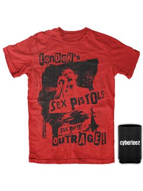 55399260 Product Image Sex Pistols T-Shirt London's Outrage Johnny Rotten Red T-Shirt  + Coolie (