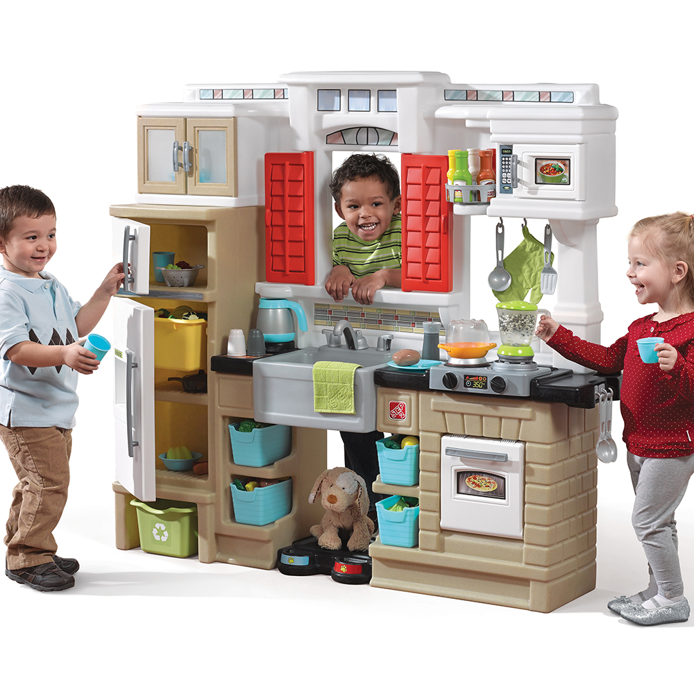 Step2 Mixin Up Magic Kitchen Toddler Kitchen Play Set Walmart Com Walmart Com