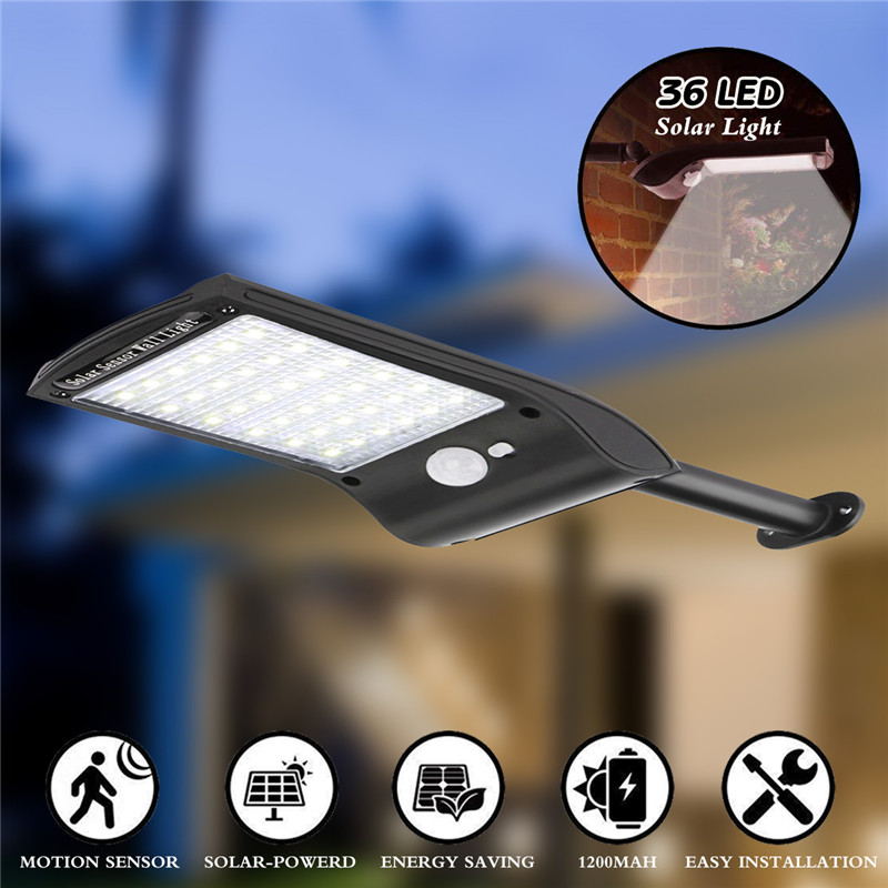 Solar Lights Outdoor, New Generation 36 LED Super Bright Solar Motion Sensor Security Lights, Wireless Waterproof Wall Lights with Rotatable Mounting Pole for Garden Driveway Patio