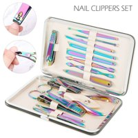 15 In 1 Manicure Pedicure Set Nail Clippers - Stainless Steel Professional Pedicure Nail Scissors Grooming Kit Tools Gift