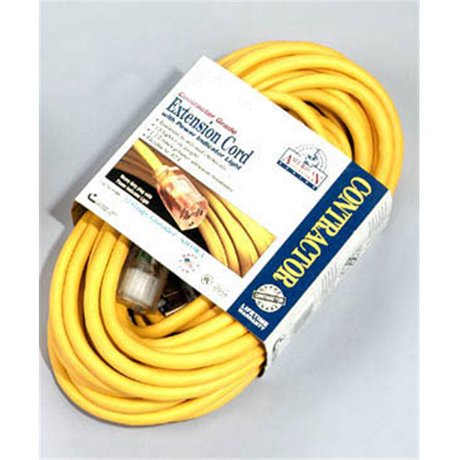 Coleman Cable 100ft 3 3 Yellow American Contractor