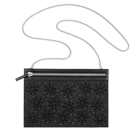 Swarovski Black Crystals FIREWORK BAG Evening Party Bag Stainless Steel (Swarovski Bag)