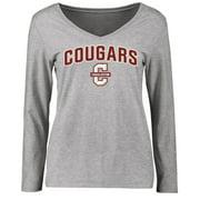 Charleston Cougars Women's Proud Mascot Long Sleeve T-Shirt - Ash