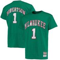 Oscar Robertson Milwaukee Bucks Mitchell & Ness Hardwood Classics Retro Name & Number T-Shirt - Kelly Green