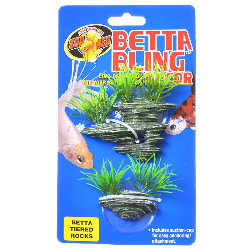 Zoo Med Betta Bling Decor - Tiered Rocks 1 Pack