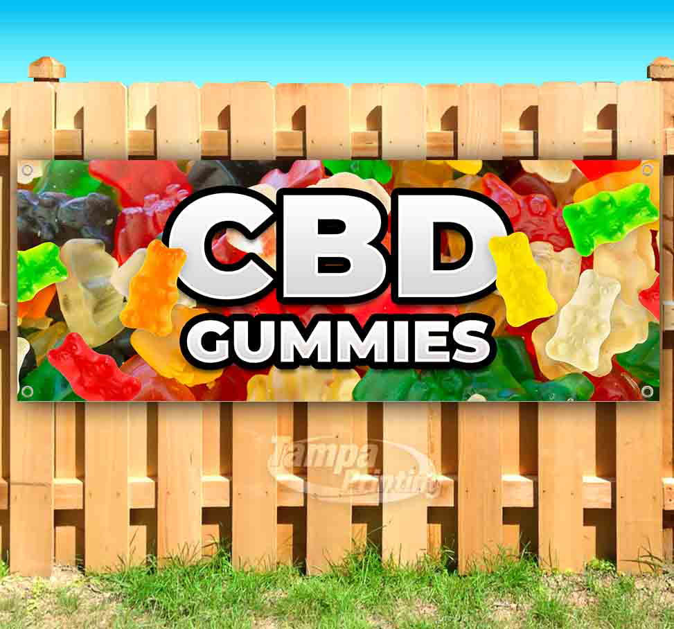 Flag, Advertising Many Sizes Available New Store CBD Oil Sold HERE 13 oz Heavy Duty Vinyl Banner Sign with Metal Grommets