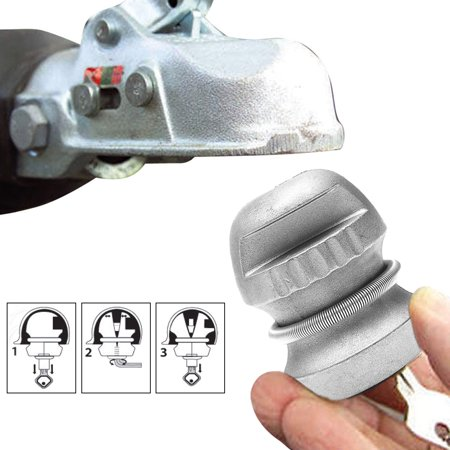 Trailer Anti Theft - Zinc Alloy Trailer Coupling Hitch Caravan Lock 50mm Ball Lock Tow Caravan Anti-theft Device