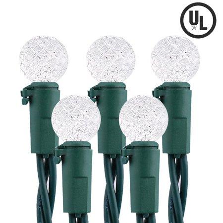 brizled led christmas lights commercial grade led string lights faceted g10 led 50 led 163