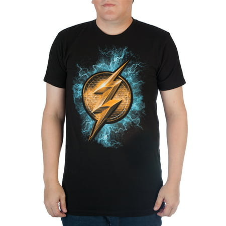 Dc Comics Mens The  Flash Emblem And Lightening Graphic Tee