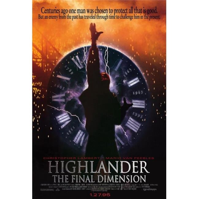 Posterazzi MOVAF5409 Highlander 3-The Final Dimension Movie Poster - 27 x 40 in. - image 1 of 1