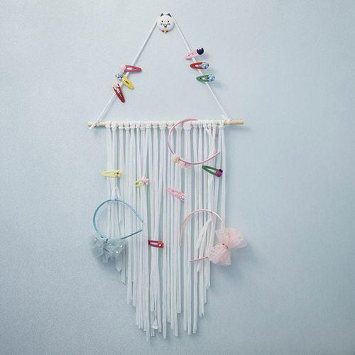 Kid Ribbon Hair Bow Hair Clip Holder Hanger Storage Organizer Decor hanging