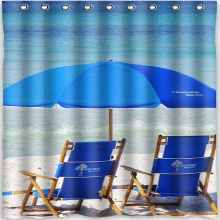 HOT Design Beach Chair Shower Curtain 48w X 72h Generic