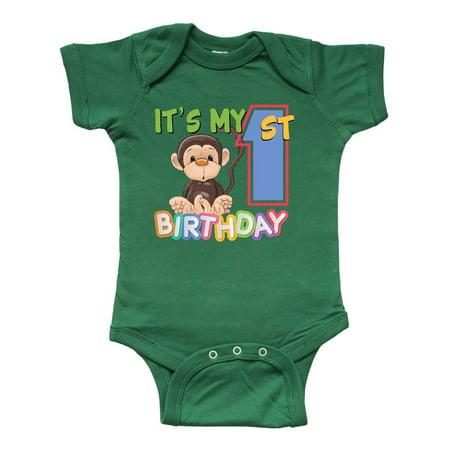Monkey First Birthday Infant Creeper - Monkey Onesie