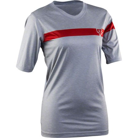 Race Face Charlie Women's Tech Short Sleeve Top: Gray MD - Charlie Short