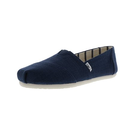Toms Women's Classic Heritage Canvas Majolica Blue Ankle-High Slip-On Shoes - 9.5M