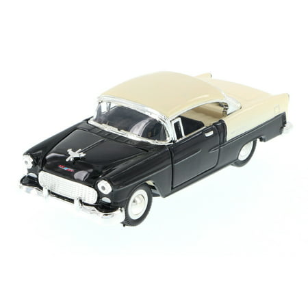 1955 Chevy Bel-Air Hard Top, Black - Sunnyside 5720D - 1/34 Scale Diecast Model Toy Car (Brand New but NO BOX)