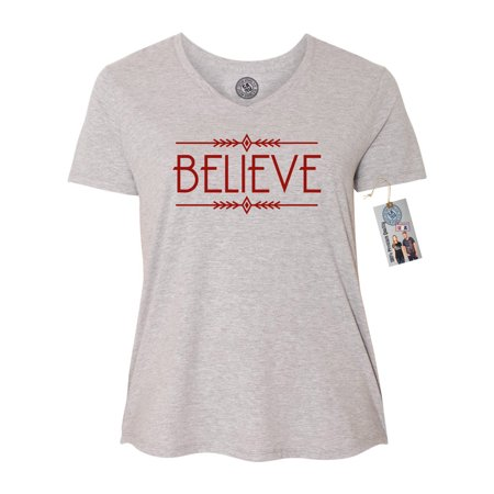 christmas shirt believe plus size women v neck t shirt exclusive magnet
