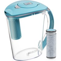 Brita Stream Filter as You Pour Water Pitcher, 10 Cup - Lake Blue