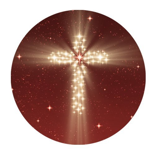 MKHERT Holy Cross of Star Light Round Mousepad Mat For Mouse Mice Size 7.87x7.87 inches