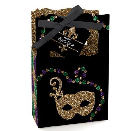 Mardi Gras - Masquerade Party Favor Boxes - Set of 12
