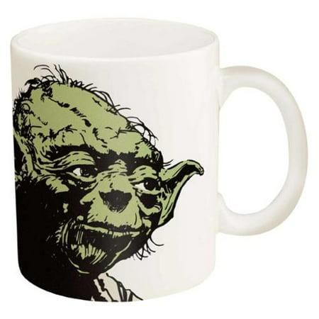 (Star Wars Yoda Ceramic Coffee Cup, 11 oz)