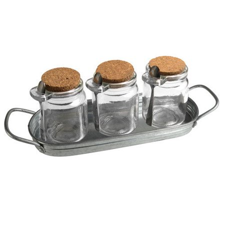Artland Oasis S/7 Pcs Condiment Set, Shrink-Wrapped Set