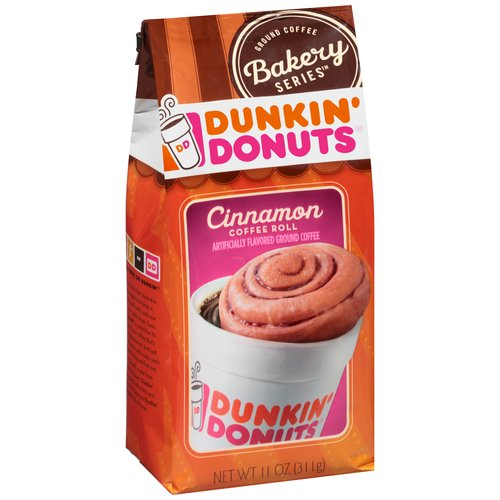 Dunkin' Donuts Bakery Series Cinnamon Coffee Roll Ground Coffee, 11 oz