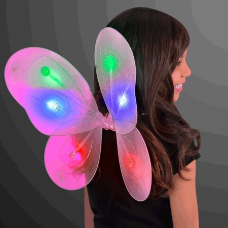 Light Up Pink Fairy Butterfly Wings by LED Halloween Costume for Trick or Treating and Night Time Safely, Make sure your kids can be seen at night. By blinkee ()