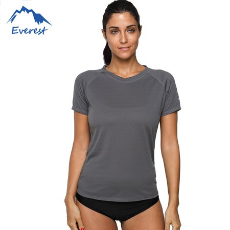 FeelGlad Women's Plus Size Short Sleeve Multi Color Rash Guard Swim Shirt Bikini Cover Up Sun Protection Surfing Shirt, -