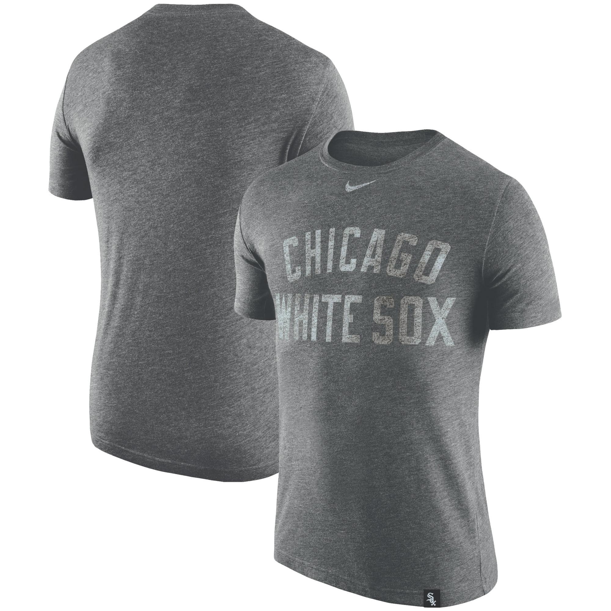 Chicago White Sox Nike Tri-Blend DNA Performance T-Shirt - Heathered Black