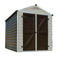 Palram Skylight Shed, 6' x 8', Tan