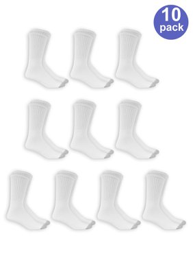 e0bd53f293 Product Image Men's Big and Tall Crew Socks 10 Pack