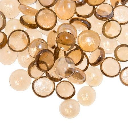 - Glass Gems In Mesh Bag - Pink - 12 Oz