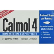 calmol 4 hemorrhoidal suppositories, 3 count