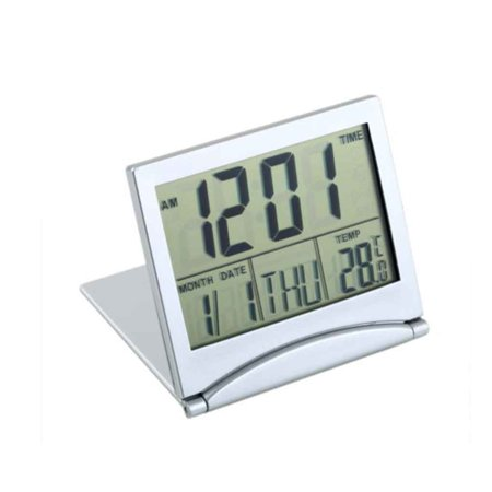 2019 New LCD Display Calendar Alarm Clock Desk Digital Thermometer Cover Flexible Desk Table