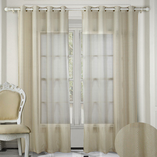 Chic Home Crystal Grommet Curtain Panels  (Set of 2)